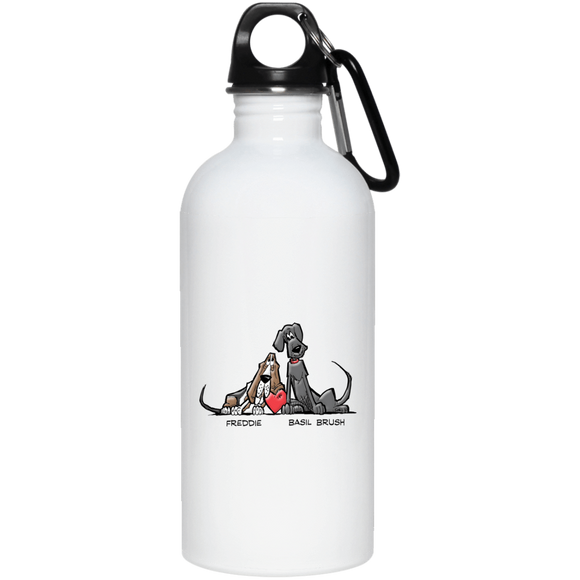 Tim's Freddie/Basil Love 20 oz. Stainless Steel Water Bottle - The Bloodhound Shop