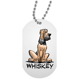 Whiskey Collection White Dog Tag - The Bloodhound Shop