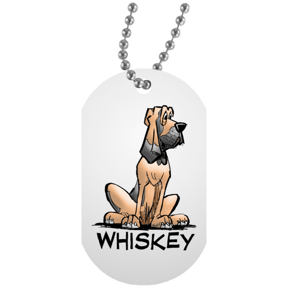 Whiskey Collection White Dog Tag