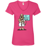 Veterinarian Hound Anvil Ladies' V-Neck T-Shirt - The Bloodhound Shop