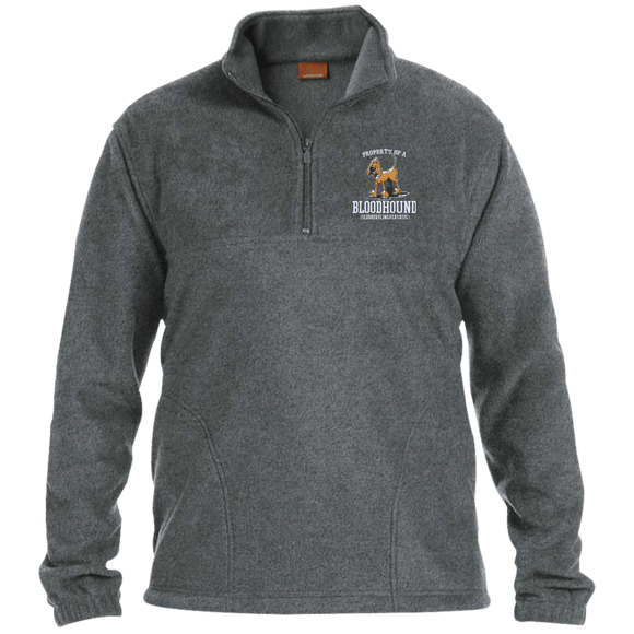 Property of a Bloodhound Specialty Harriton 1/4 Zip Fleece Pullover - The Bloodhound Shop