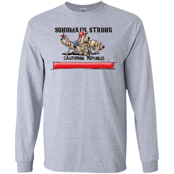 Sonoma Co. Strong Gildan LS Ultra Cotton T-Shirt