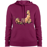 Palmers Playful Pups Sport-Tek Ladies' Pullover Hooded Sweatshirt - The Bloodhound Shop