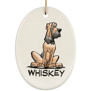 Whiskey Collection Ceramic Oval Ornament - The Bloodhound Shop