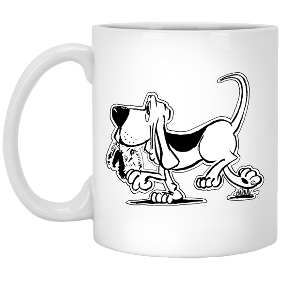 Retro Hound 11 oz. White Mug - The Bloodhound Shop