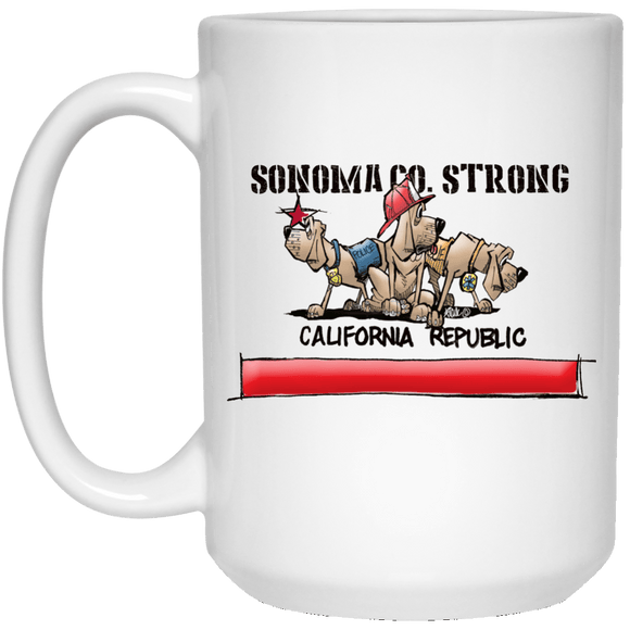 Sonoma Co. Strong 15 oz. White Mug