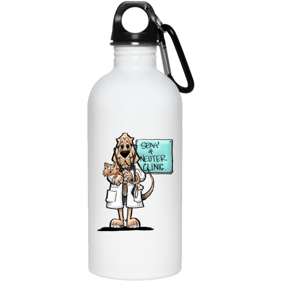Veterinarian Hound 20 oz. Stainless Steel Water Bottle