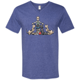 Tim's Hound Love Anvil Men's Printed V-Neck T-Shirt