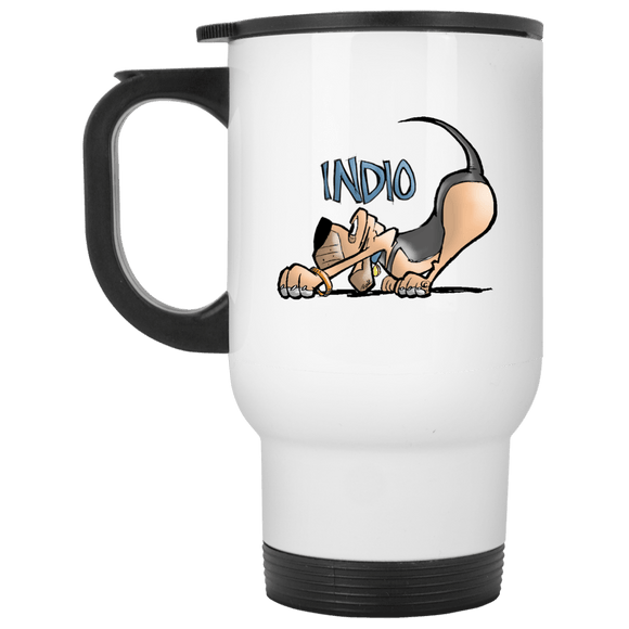 Robyn Indio Custom White Travel Mug