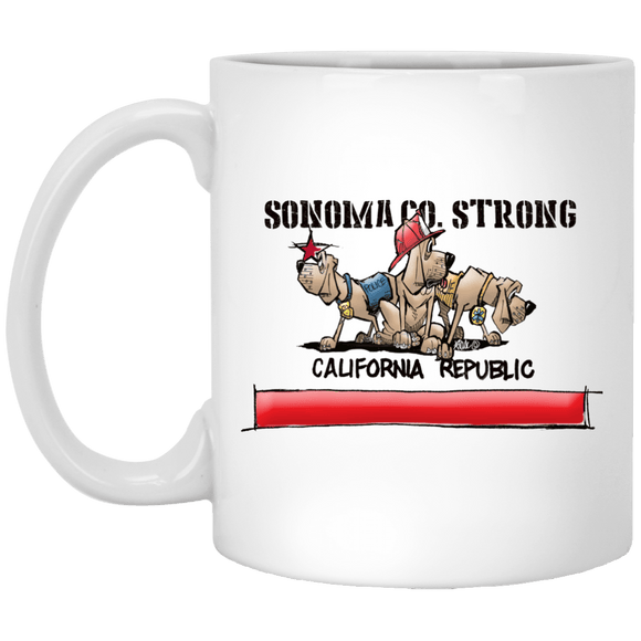 Sonoma Co. Strong 11 oz. White Mug