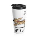 How to Walk a Bloodhound Stainless Steel Travel Mug - The Bloodhound Shop