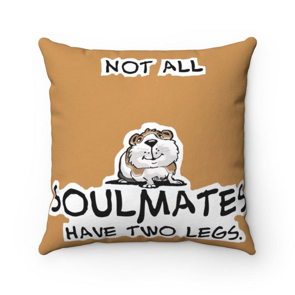 2021 Soulmates Guinea Pig FBC Polyester Square Pillow