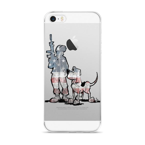 Soldier Hound iPhone 5/5s/Se, 6/6s, 6/6s Plus Case - The Bloodhound Shop