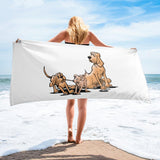 Palmer Playful Pups Towel - The Bloodhound Shop