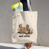 Get Lost Hounds Cotton Tote Bag