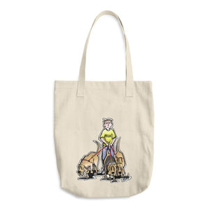 Three Rescue Hounds Cotton Tote Bag - The Bloodhound Shop
