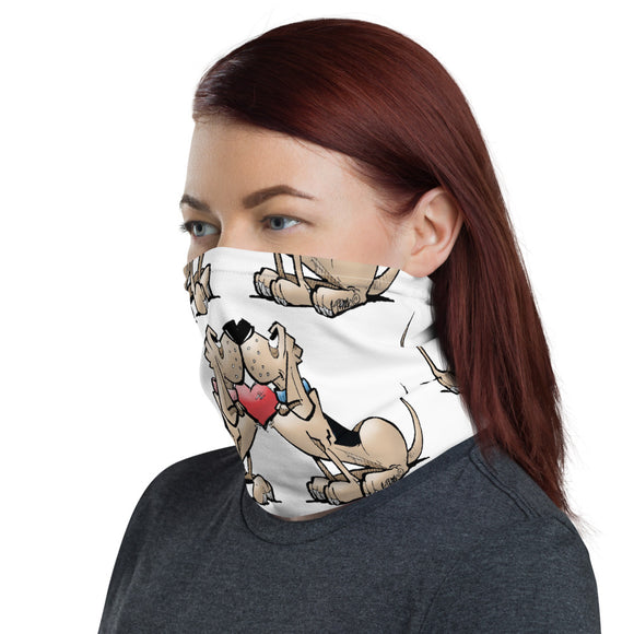 I Love Bloodhound FBC Mask Neck Gaiter