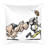 Football Hound Steelers Basic Pillow - The Bloodhound Shop