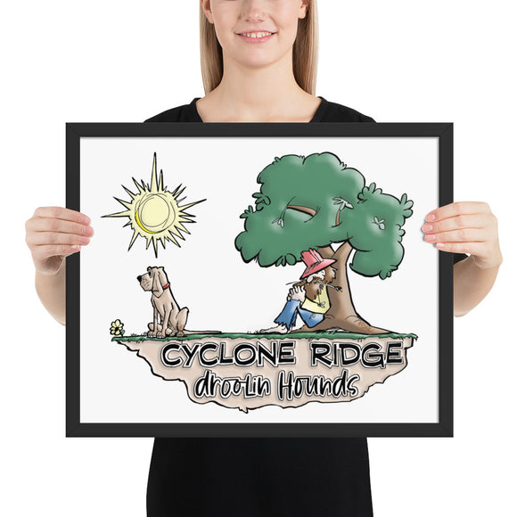 Cyclone Ridge Droolin Hounds Framed poster - The Bloodhound Shop