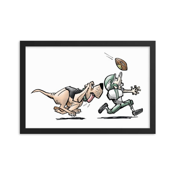 Football Hound Eagles Framed poster - The Bloodhound Shop