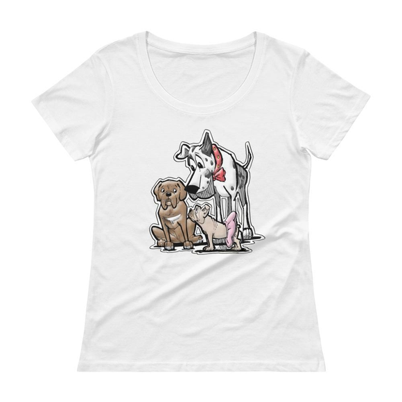 Judge Collection.Ladies' Scoopneck T-Shirt - The Bloodhound Shop