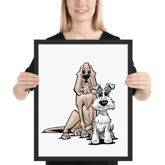 James Johnson Dogs Framed poster - The Bloodhound Shop