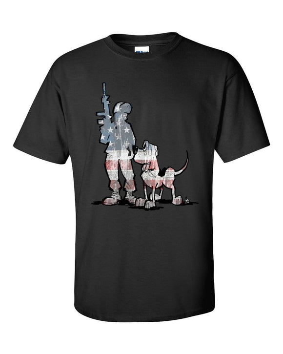 Soldier Hound Dark Short sleeve t-shirt - The Bloodhound Shop
