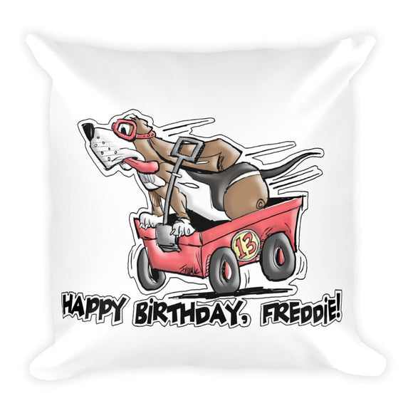 Tim's Wrecking Ball Crew Freddie's B-Day Basic Pillow | The Bloodhound Shop