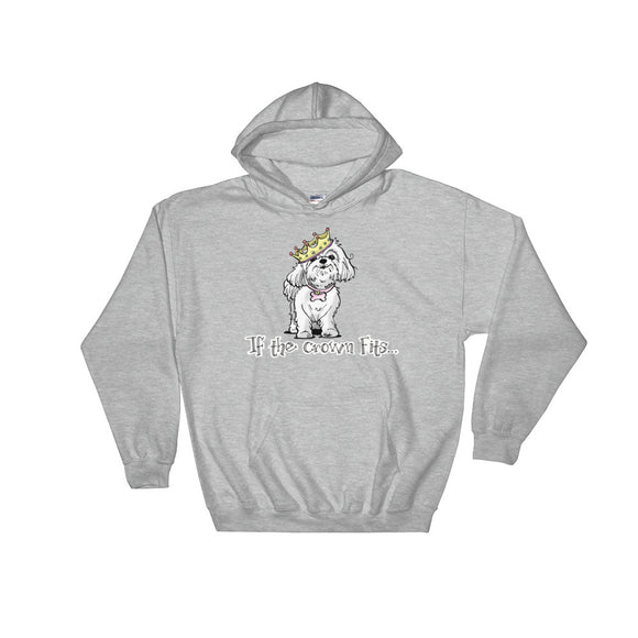 Maltese- If The Crown Fits FBC Hooded Sweatshirt - The Bloodhound Shop