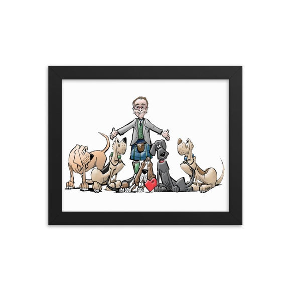 Tim's Google Hound Framed poster - The Bloodhound Shop