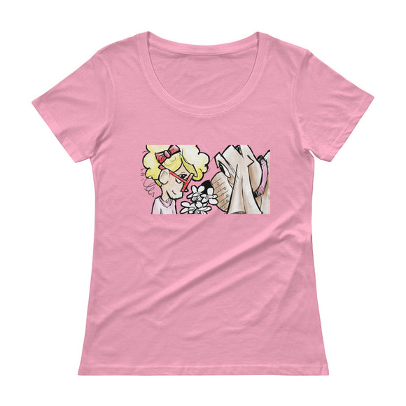 Girl and Her Hound Ladies' Scoopneck T-Shirt - The Bloodhound Shop