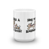 How to Walk a Basset and a Bloodhound Mug - The Bloodhound Shop