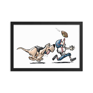 Football Hound Texans Framed poster - The Bloodhound Shop