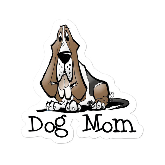 Basset- Dog Mom FBC Bubble-free stickers - The Bloodhound Shop