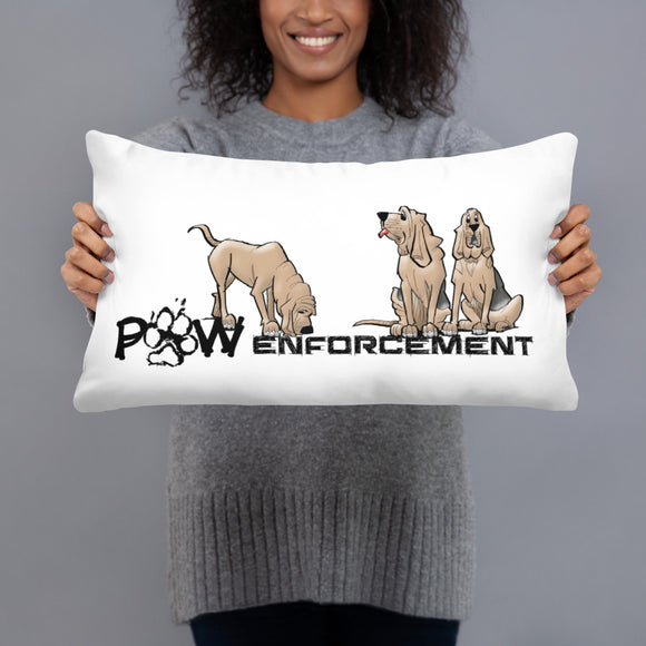 Paw Enforcement Basic Pillow - The Bloodhound Shop