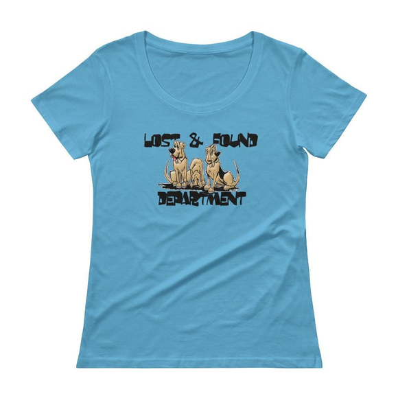 Lost & Found Hound Ladies' Scoopneck T-Shirt