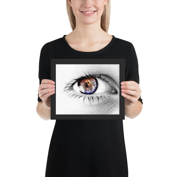 Eye of the Hound Melinda 1 Framed poster - The Bloodhound Shop