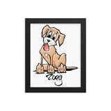 Zoey Custom Framed poster - The Bloodhound Shop