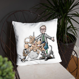 Tim's Wrecking Ball Crew With Tim Basic Pillow - The Bloodhound Shop