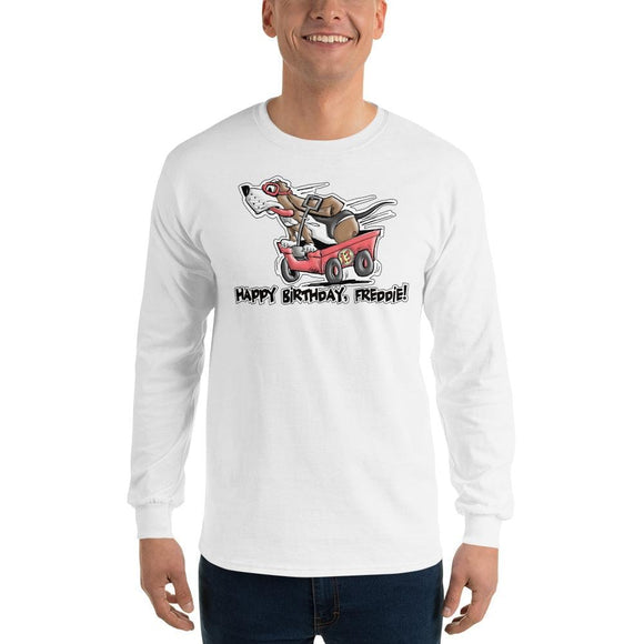 Tim's Wrecking Ball Crew Freddie's B-Day Long Sleeve T-Shirt - The Bloodhound Shop