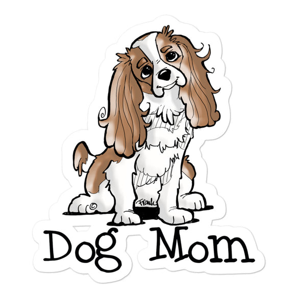 Cavalier- Dog Mom FBC Bubble-free stickers - The Bloodhound Shop