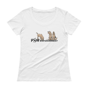 Paw Enforcement Ladies' Scoopneck T-Shirt - The Bloodhound Shop