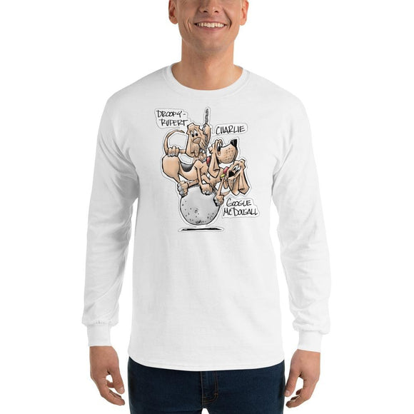 Tim's Wrecking Ball Crew Hounds w/ Names Long Sleeve T-Shirt - The Bloodhound Shop