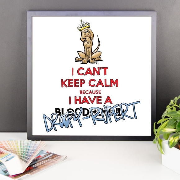 Tim's Keep Calm Droopy Rupert Framed poster - The Bloodhound Shop