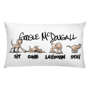 Tim's Wrecking Ball Crew Hound Commands Basic Pillow - The Bloodhound Shop