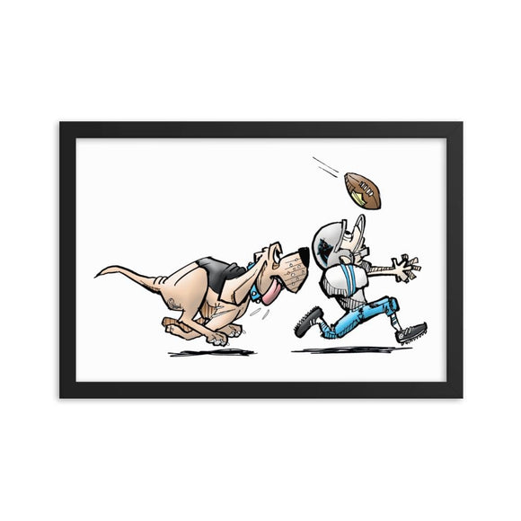 Football Hound Panthers Framed poster - The Bloodhound Shop