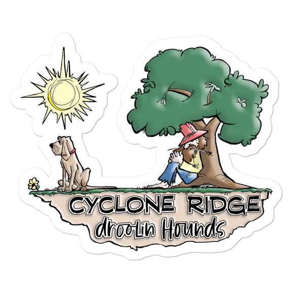 Cyclone Ridge Droolin Hounds Bubble-free stickers - The Bloodhound Shop