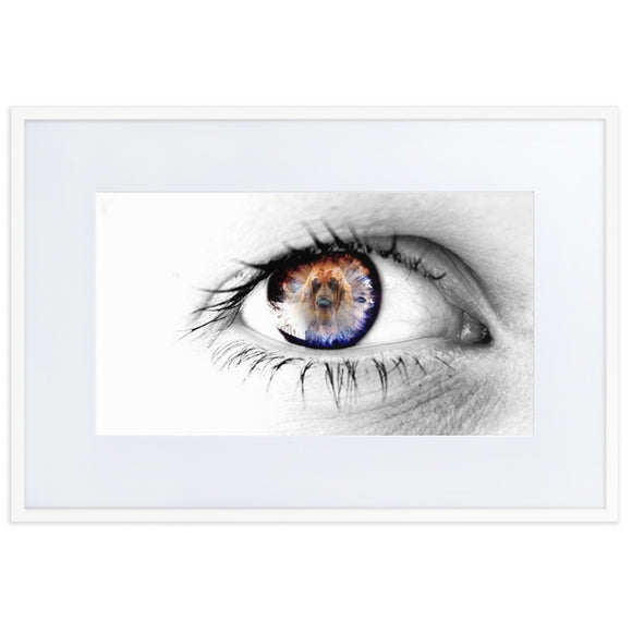 Eye of the Hound Matte Paper Framed Poster With Mat - The Bloodhound Shop
