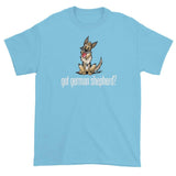 More Dogs Got German Shepherd? short sleeve t-shirt - The Bloodhound Shop