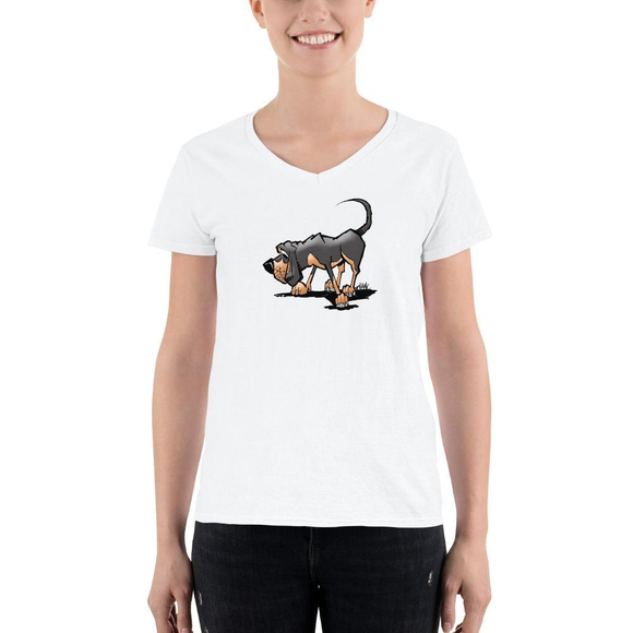 Blanket Hound Women's Casual V-Neck Shirt - The Bloodhound Shop